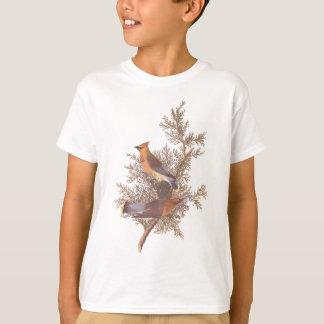 Camiseta Pares do pássaro do Waxwing de cedro de Audubon na