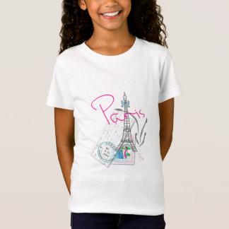 """Camiseta """"Paris com amor, francês da torre Eiffel"""""""