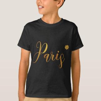 Camiseta Paris-em-Ouro-com-Flor