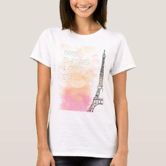 Camiseta PARIS is always a good idea, watercolor