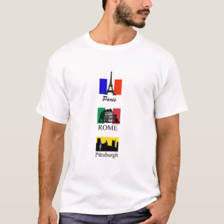 Camiseta Paris, Roma, Pittsburgh
