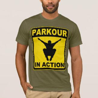 Camiseta Parkour no quadro indicador da ação