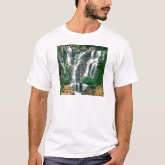 Camiseta Parque Canadá do jaspe do emaranhado da cachoeira