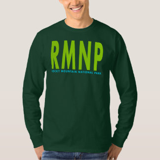 Camiseta Parque nacional de montanha rochosa de RMNP