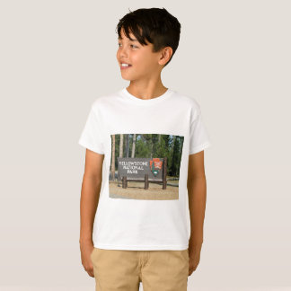 Camiseta Parque nacional de Yellowstone, sinal, Wyoming,