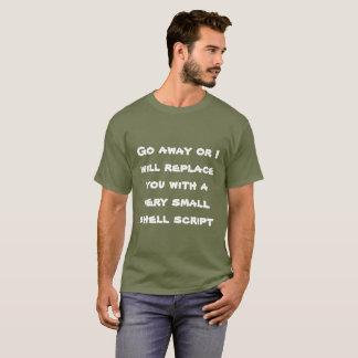 Camiseta Parta ou eu substitui-lo-ei com um roteiro de