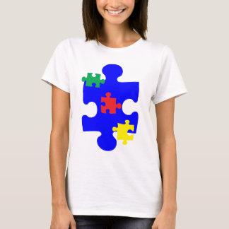 Camiseta Parte Awarness do quebra-cabeça do autismo