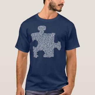Camiseta Parte azul do quebra-cabeça do autismo