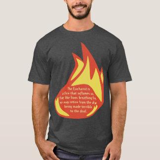 Camiseta Parte dianteira do cheio da chama do Eucaristia