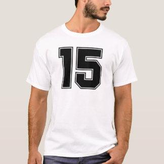 Camiseta Parte dianteira do número 15 e impressão da parte