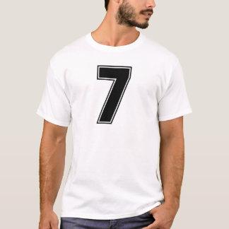 Camiseta Parte dianteira do número 7 e impressão da parte
