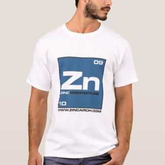 Camiseta parte dianteira do símbolo do zinco