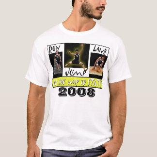 Camiseta parte dianteira do tshirt do tyler, 2008