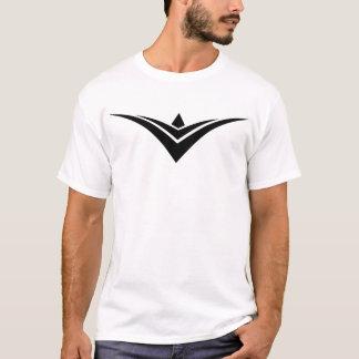 Camiseta Parte dianteira grande branca do logotipo da