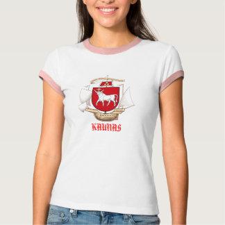 Camiseta Parte dianteira NOVA do COA de Kaunas Lietuva