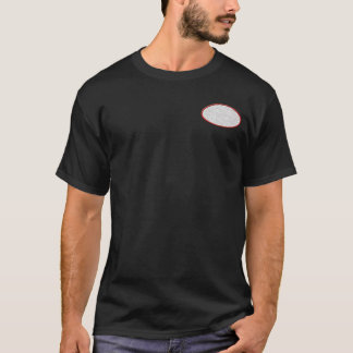 Camiseta Parte dianteira oval bordada customizável & parte
