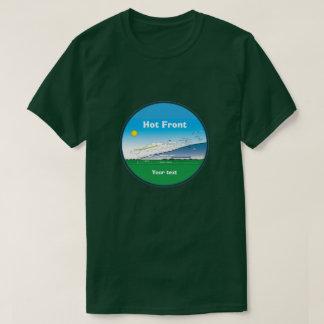 Camiseta Parte dianteira quente da meteorologia - azul do