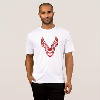 Camiseta Parte dianteira vermelha do logotipo de PoM
