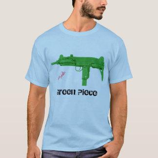 Camiseta parte do verde do divertimento do uzi, R