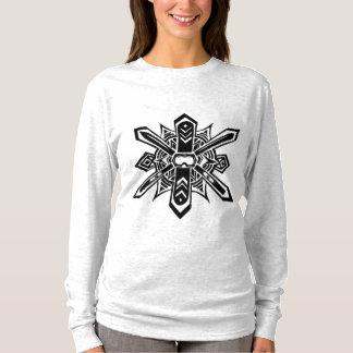 Camiseta Parte superior abstrata do esqui/Luva do Snowboard