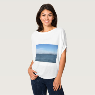 Camiseta Parte superior bonita da imagem do beira-rio para
