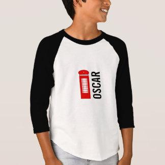 Camiseta Parte superior Customisable britânica do Raglan