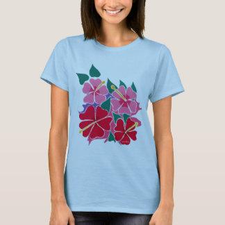 Camiseta Parte superior da arte: Flores do hibiscus da