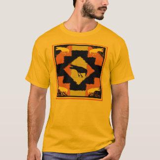 Camiseta Parte superior da cobertura do corvo do ouro