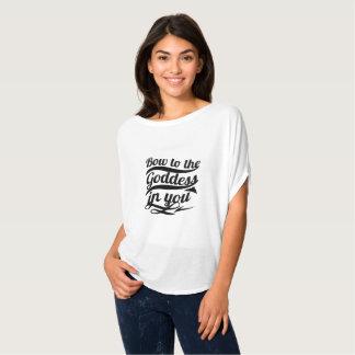 Camiseta Parte superior da deusa