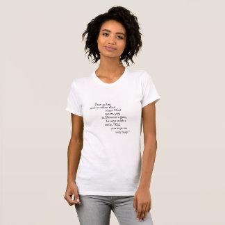 Camiseta Parte superior da felicidade