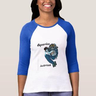 Camiseta parte superior da forma do aquarius com informação