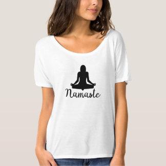 Camiseta Parte superior da ioga de Namaste