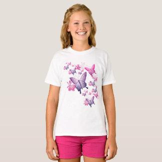 Camiseta Parte superior da luva do Short da borboleta da