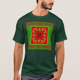 Camiseta Parte superior da paz do OM Shanti do feriado
