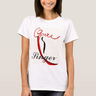 Camiseta Parte superior da veste do cantor da ópera