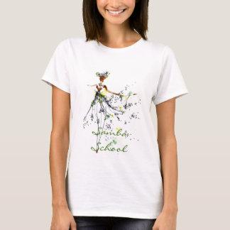 Camiseta Parte superior das senhoras da escola da samba