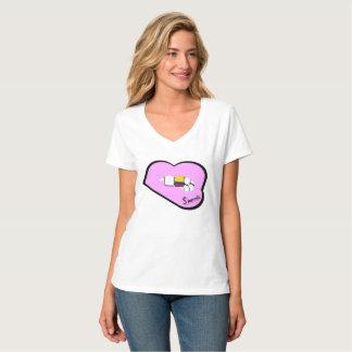 Camiseta Parte superior de Colômbia dos lábios de Sharnia