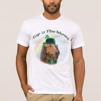 Camiseta Parte superior de Daschund do amanhecer