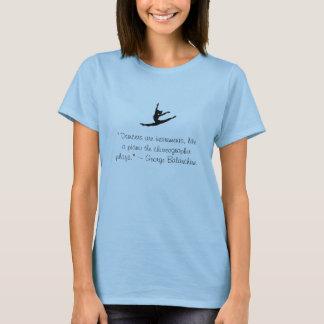 Camiseta Parte superior do abrigo da dança das citações de