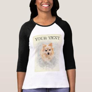 Camiseta Parte superior do amante do cão! Cão de Pomeranian