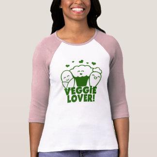 Camiseta Parte superior do amante do vegetariano de Kawaii