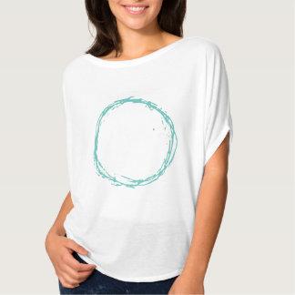 Camiseta parte superior do círculo da onda