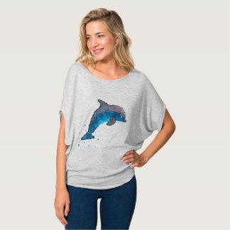 Camiseta Parte superior do círculo de Flowy do golfinho das