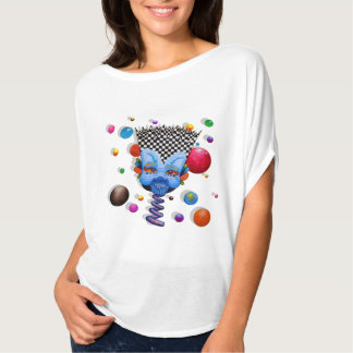 """Camiseta """"Parte superior do círculo de Flowy do homem azul"""""""