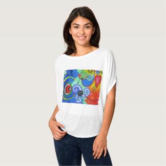 """Camiseta """"Parte superior do círculo de Flowy dos sonhos"""