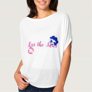 Camiseta Parte superior do círculo do Flowy das mulheres