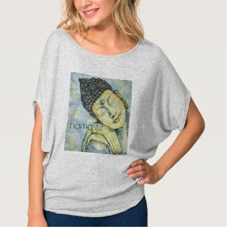 Camiseta Parte superior do círculo do Flowy das mulheres da