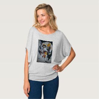Camiseta Parte superior do Colher-Pescoço das mulheres da