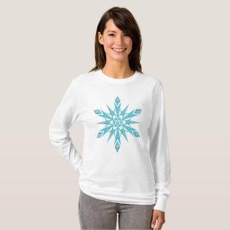 Camiseta Parte superior do floco de neve das mulheres