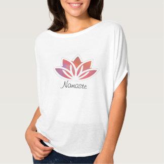 Camiseta Parte superior do fluxo da ioga de Namaste Lotus